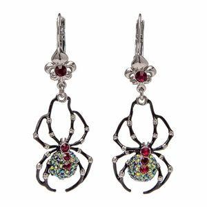 Spider AB Crystal Leverback  Earrings (Silvertone)